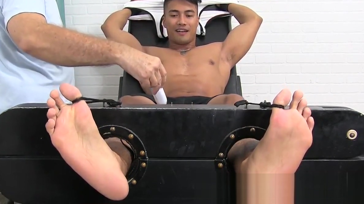 Extremely ticklish jock tied up for a session with master Sex Videos Direct
