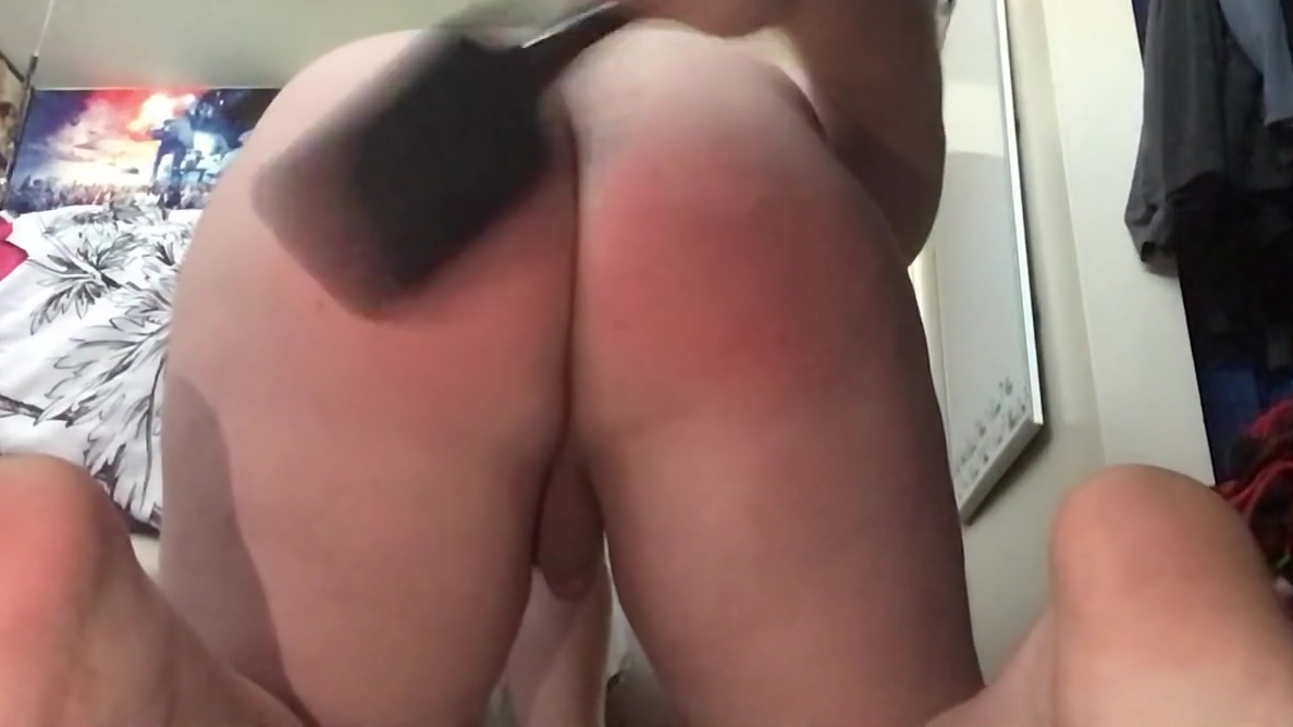 Male Self Spank and Soap Rilling Miss Derby