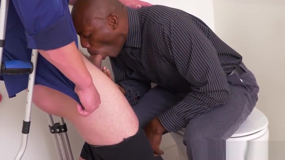 Hung black stud assfucked in office toilet skinny homely nude girls