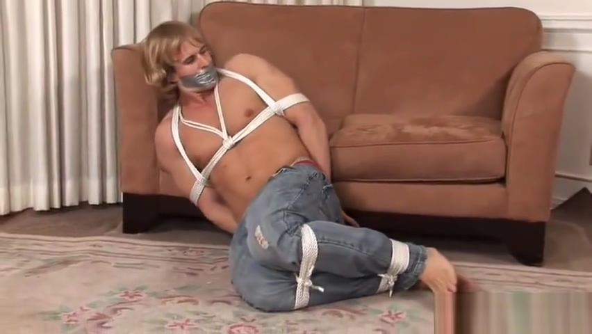 Bondage Hunk Taped Spanish guy dating a white girl