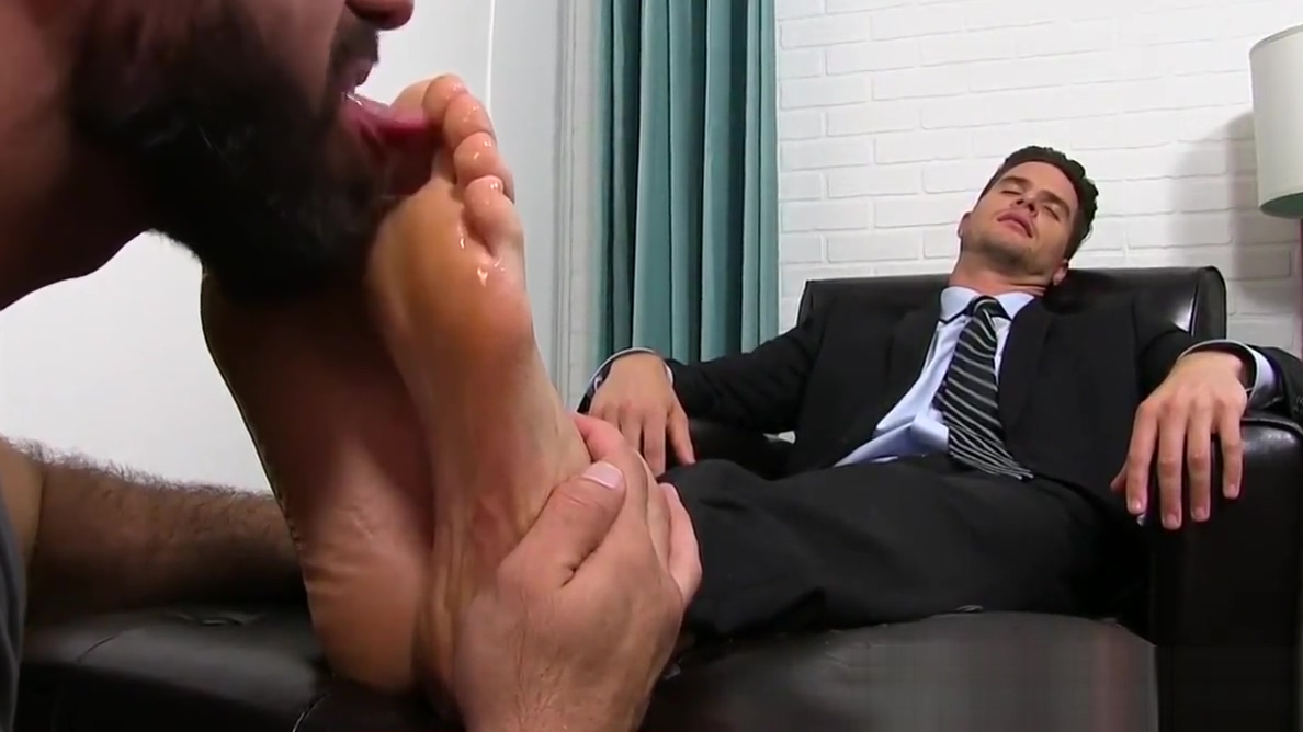 Classy jock in suit enjoying is some sloppy feet sucking Freak of nature 18 bbw pain 1