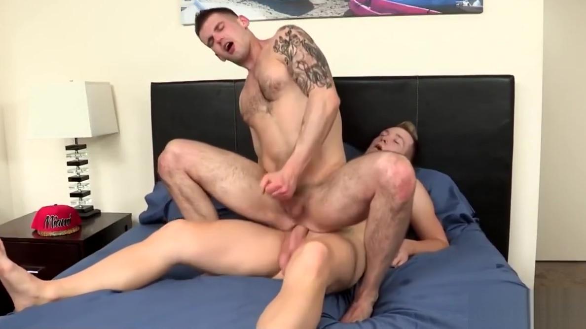 Athletic gay men have fun after workout Desert Rose Loves Lezley Zen