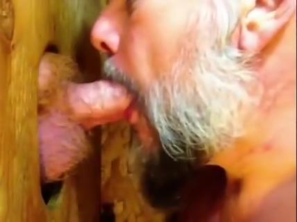 SUCKING RED Tattooed slave suck penis slowly