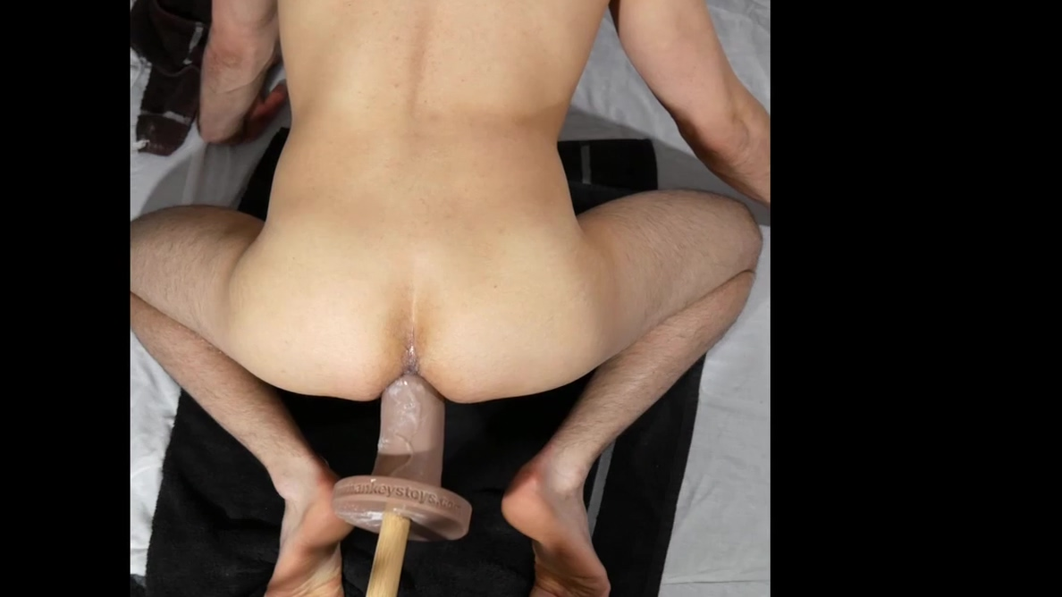 Mr Hankeys Big Daddy Small Anal Dildo with Cumshot black chick white guy sex