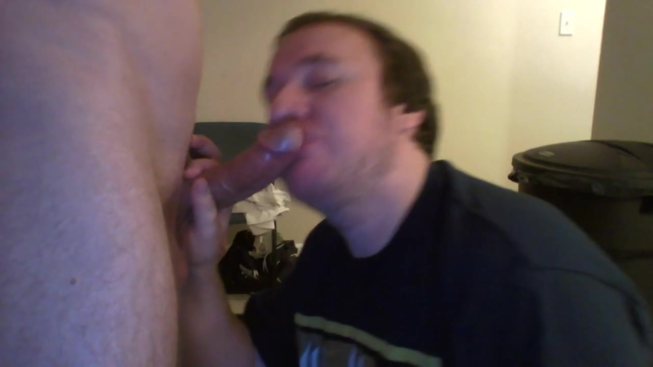 Sucking an 8 inch cut cock plus cumshot. with yoga messaged fat