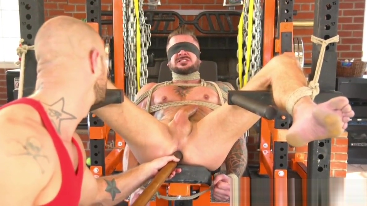 Tied up inked bdsm sub anal toyed by dom Naked nudu sex photo of namita