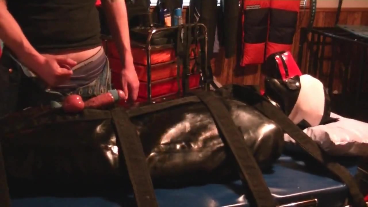 Bondage tails #2: Rubber Puppy Cock Electrified and Milked Sex american women fucking image