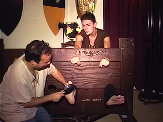 College Guy Tickled in Stocks #3 classic porn movies free