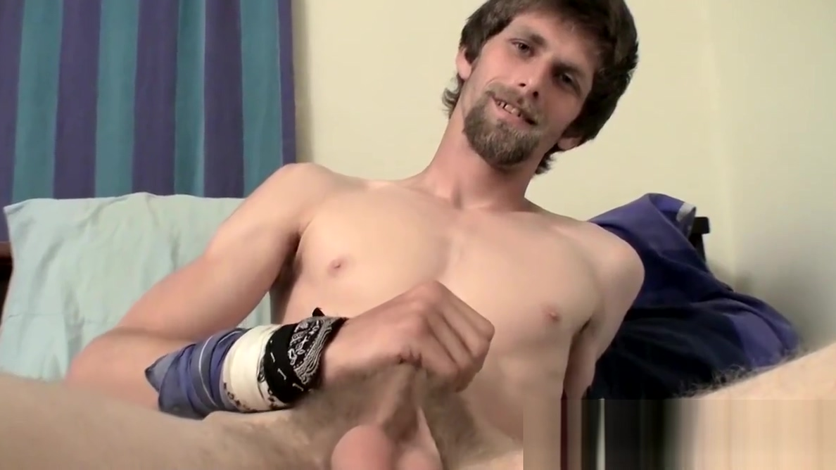 Hairy straight guy masturbating solo and teasing in bed Teen in stockings orgasm near public window