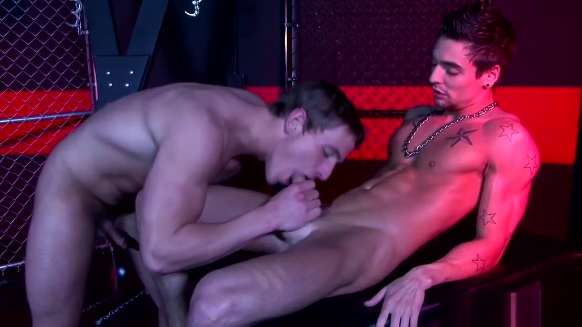 Straight jock chained up for cocksucking first time babe on babe sex