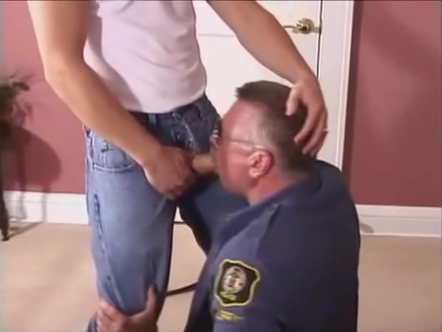 Silver Bear Cop and boy lap dance girl on girl