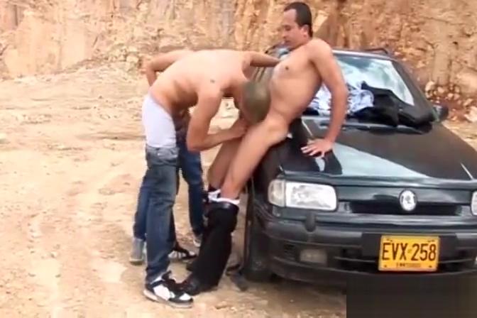 Latin Barebacking Gay Threesome gay guys with huge cock