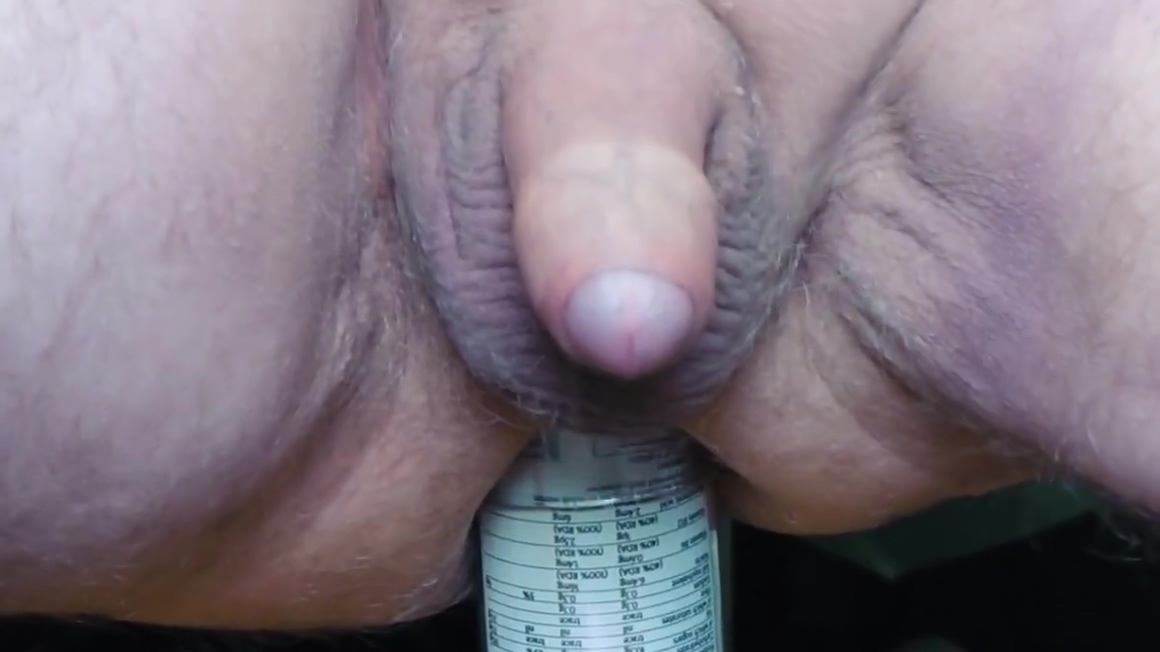 Thick glass jar. Sexy milf fucked on homemade