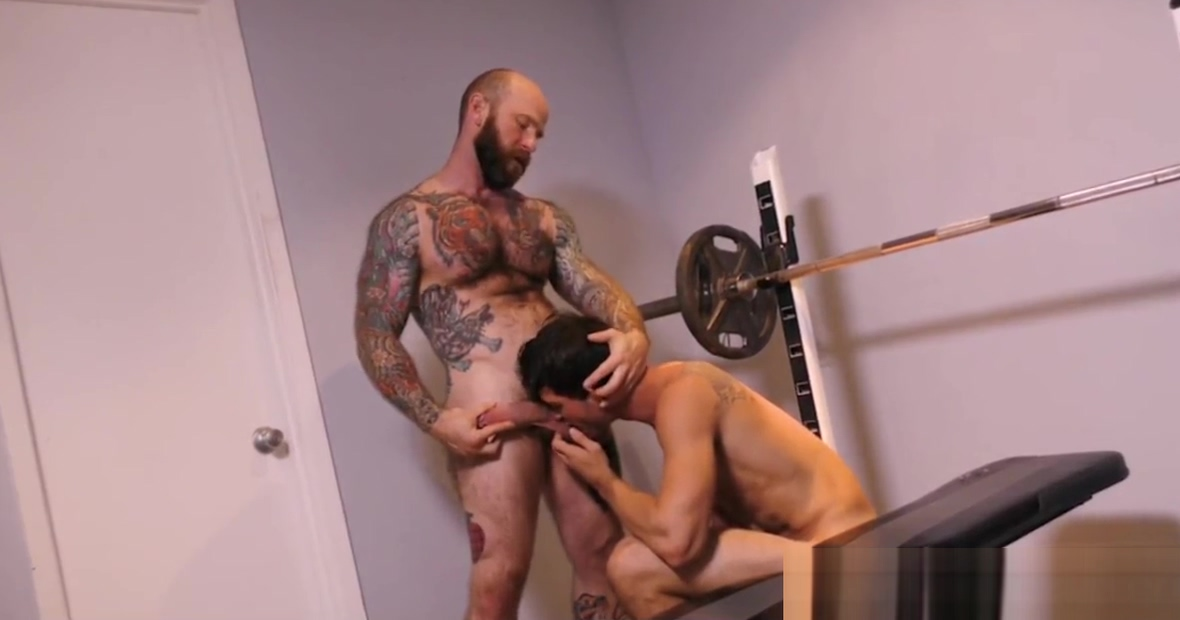 Young Jock Stepson Fucked By Bear Stepdad During Workout Hot cat sex