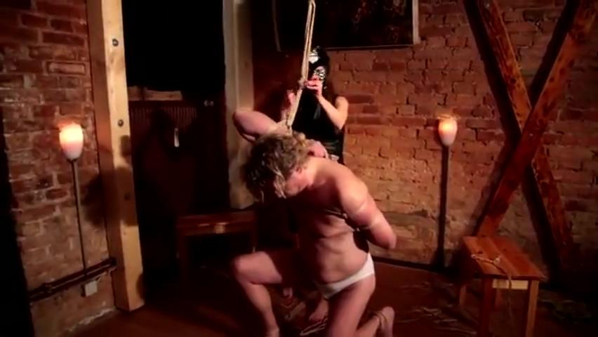 Gay - old slave hanging in dungeon Bang Bus Latino