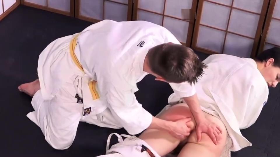 Twinks Judo Fight Voyeur watching video movie clip