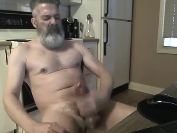 Daddy exhibitionist Black and white photography cumshot