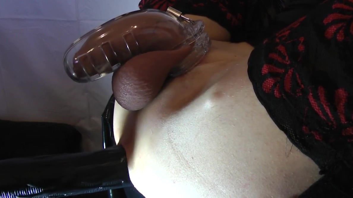 Sissy gets fucked with chastity belt Lesbian pussy fisted by brunette