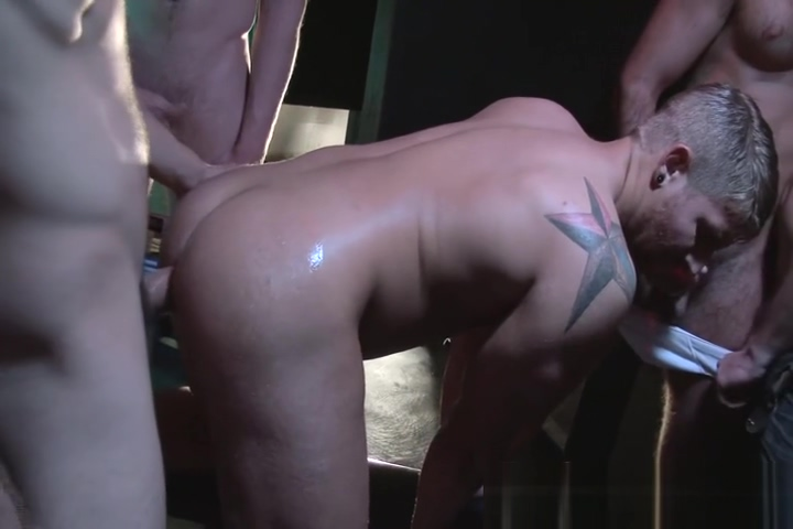 6-man orgy young clean shaved pussy