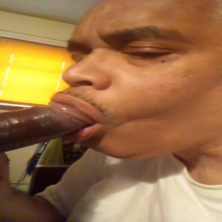 Sucking a young black dick! The longest cum shot