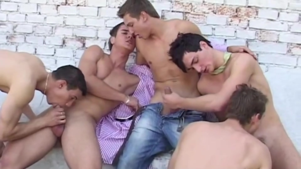 Raw Gangbang Orgy Stella's tight ass
