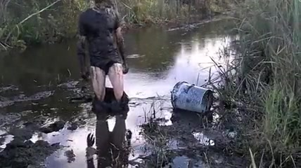 Dark Everglades swamp mud sex videos in a pool