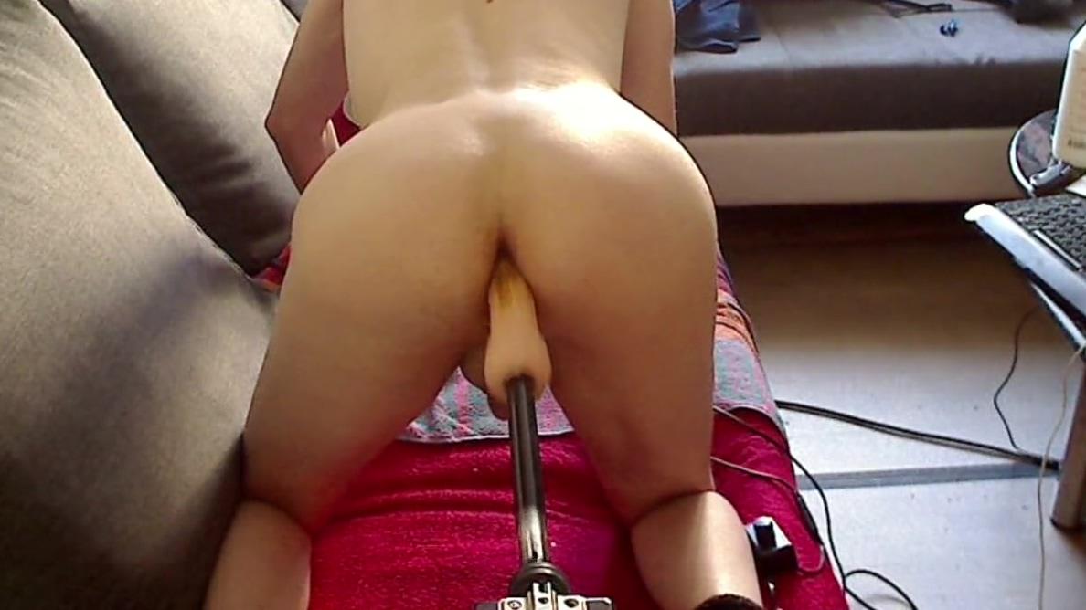 Fuck maschiene tight pussy in panties
