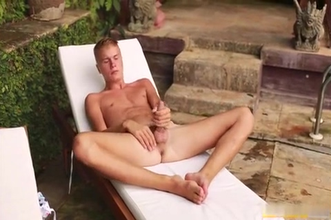 Blond Boy Wanks Near The Pool Mature anal latex