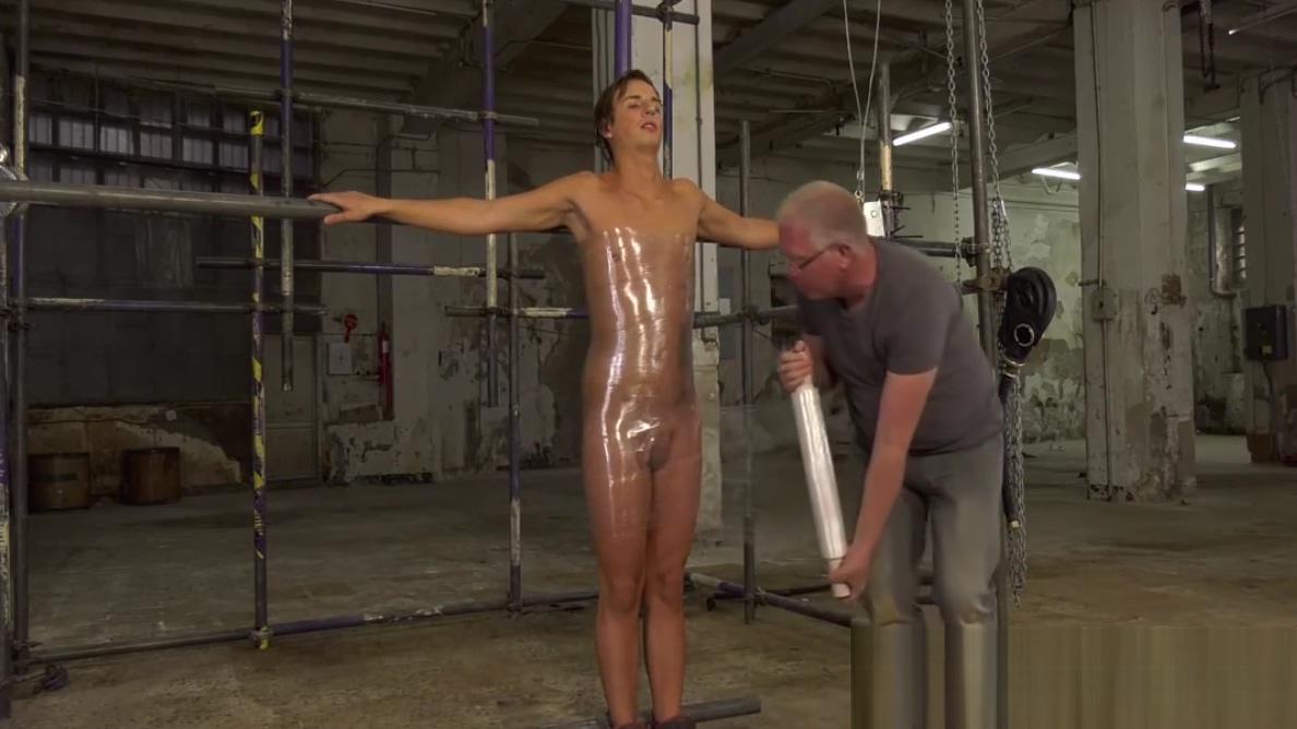 UK twink Casper Ellis strapped for BDSM handjob cumshot ass licking asian girls