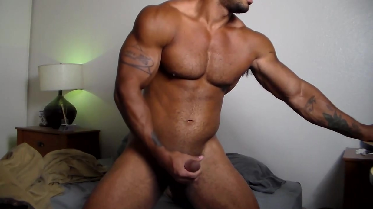 Samson strokes his Big Black Cocky Muscle Cock Slut Sex in Lhasa