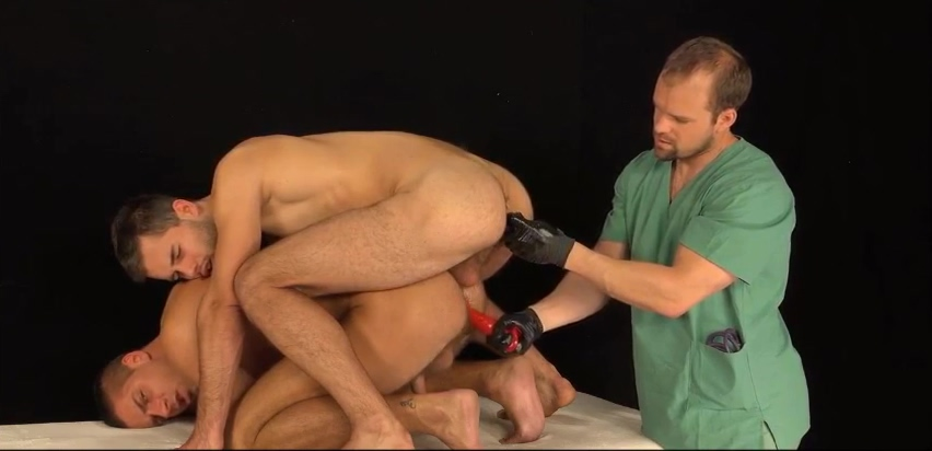 Just another 3-way medical exam hairy lesbians fuck with toys