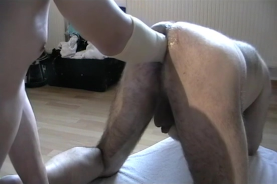 Male ass fisting - Maenner Faust im Arsch Mature with her lover guy