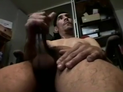 Man massaging his big pecker free gay underwear porn