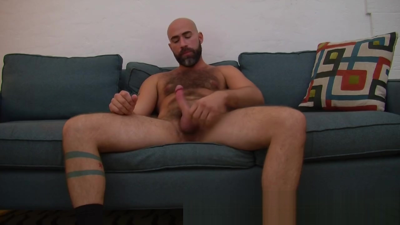 Hot Hairy Daddy jerks his rod Play a movie of adults for fucking