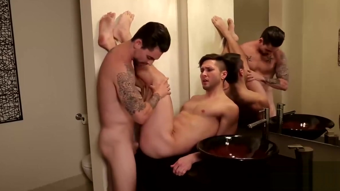 Tattooed dude catches his friend while jerking his sausage www big booty girls