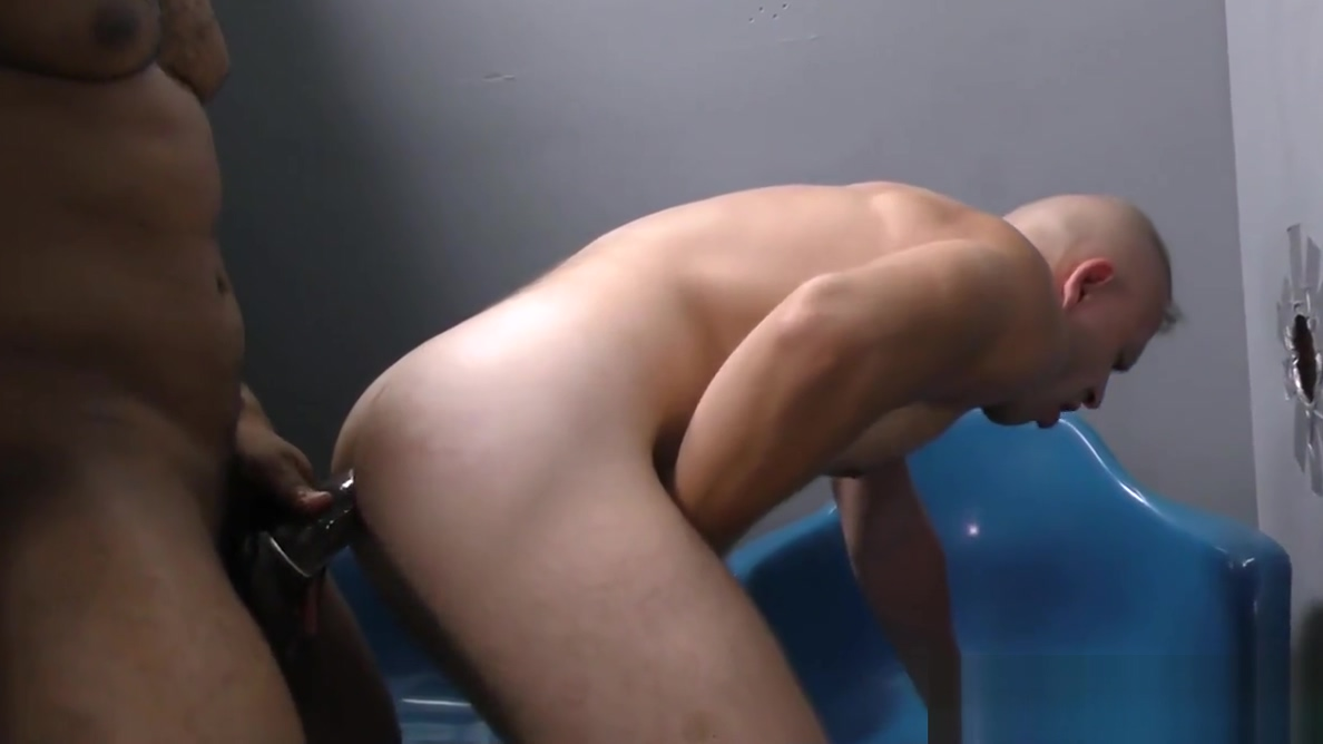 White guy finds gay lover at a glory hole Cat boobs naked