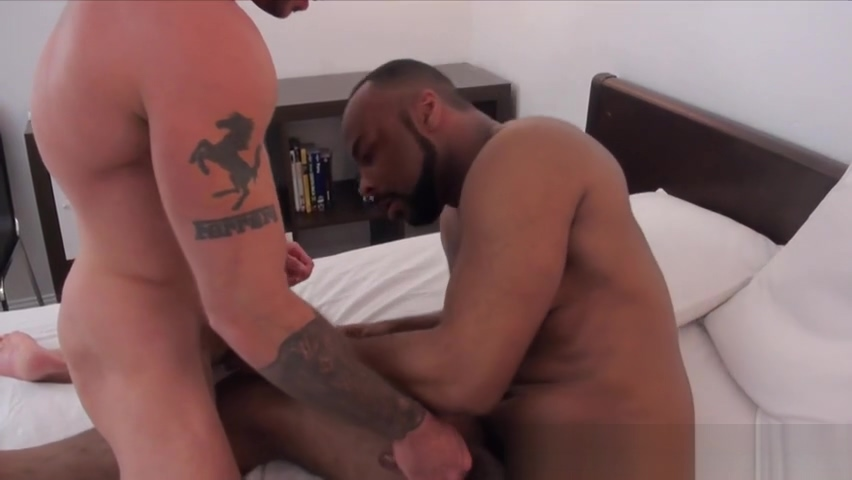 Interracially barebacked wolf gets rimmed Glory hole creampie compilation
