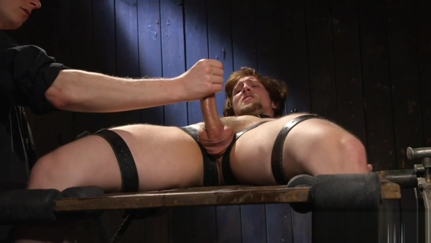 Edging BDSM maledom stroking hard cock man has sex with cars