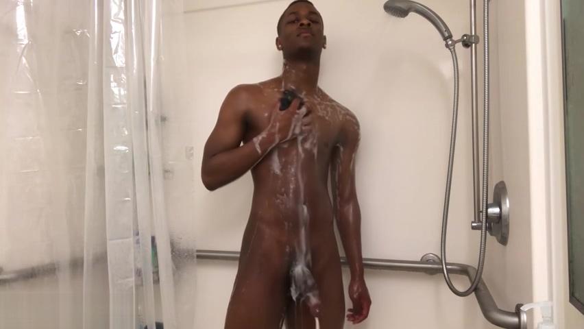 Ebony Chris Coleman Jacks Off Mature and boy home