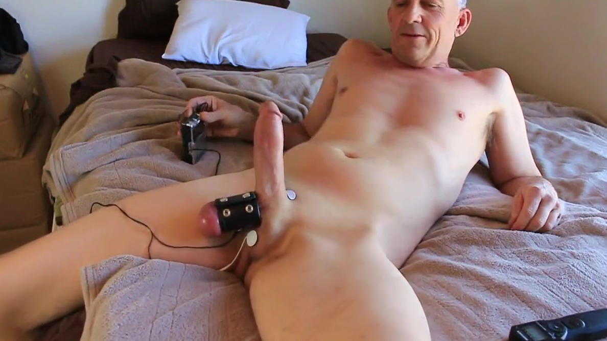 Estim play tease Frist Time Big Cock Dick Crying