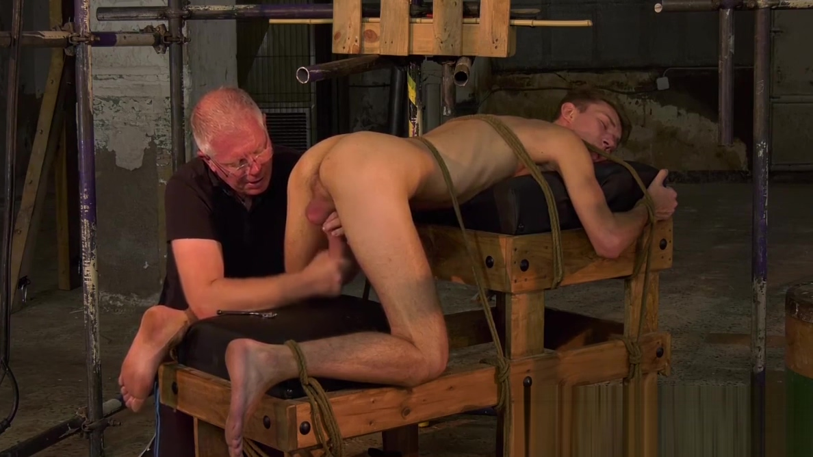 Mature master Sebastian Kane milks his bound twink slave Indian homemade mature sex