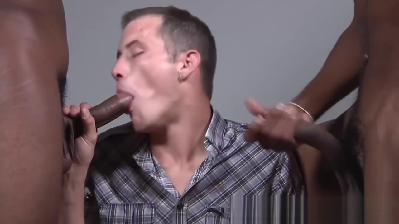 Seth Ryan Gets His Ass Trained By Black Men Burning cigarette