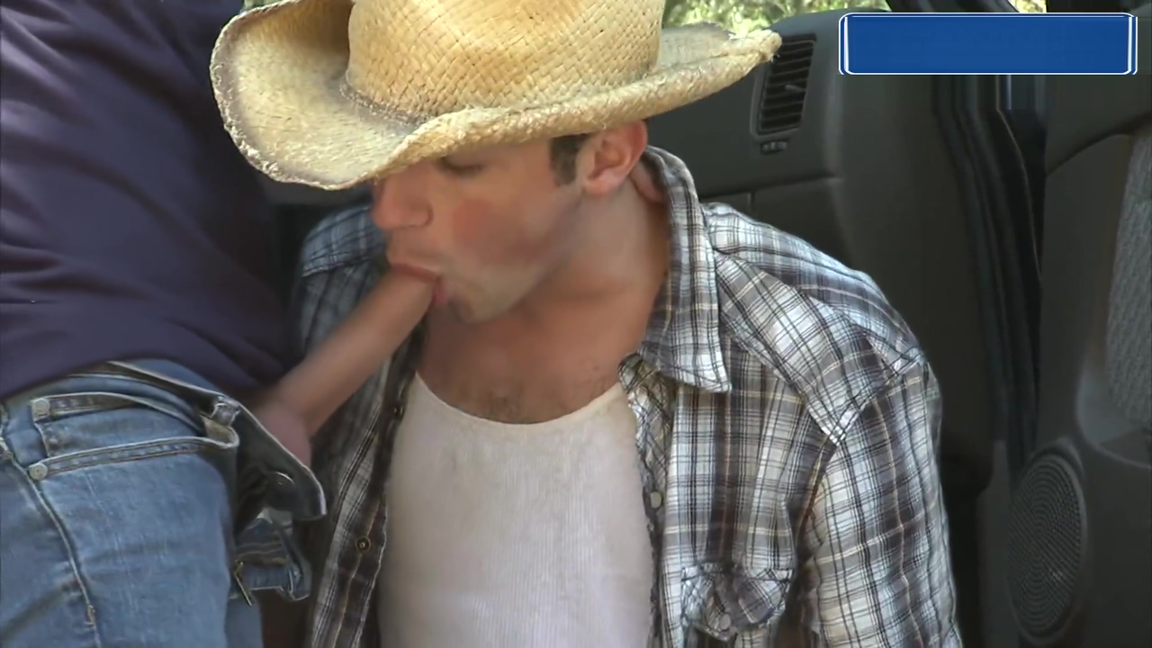Cowboys Piss and Suck Outside of Truck African chicks getting fucked
