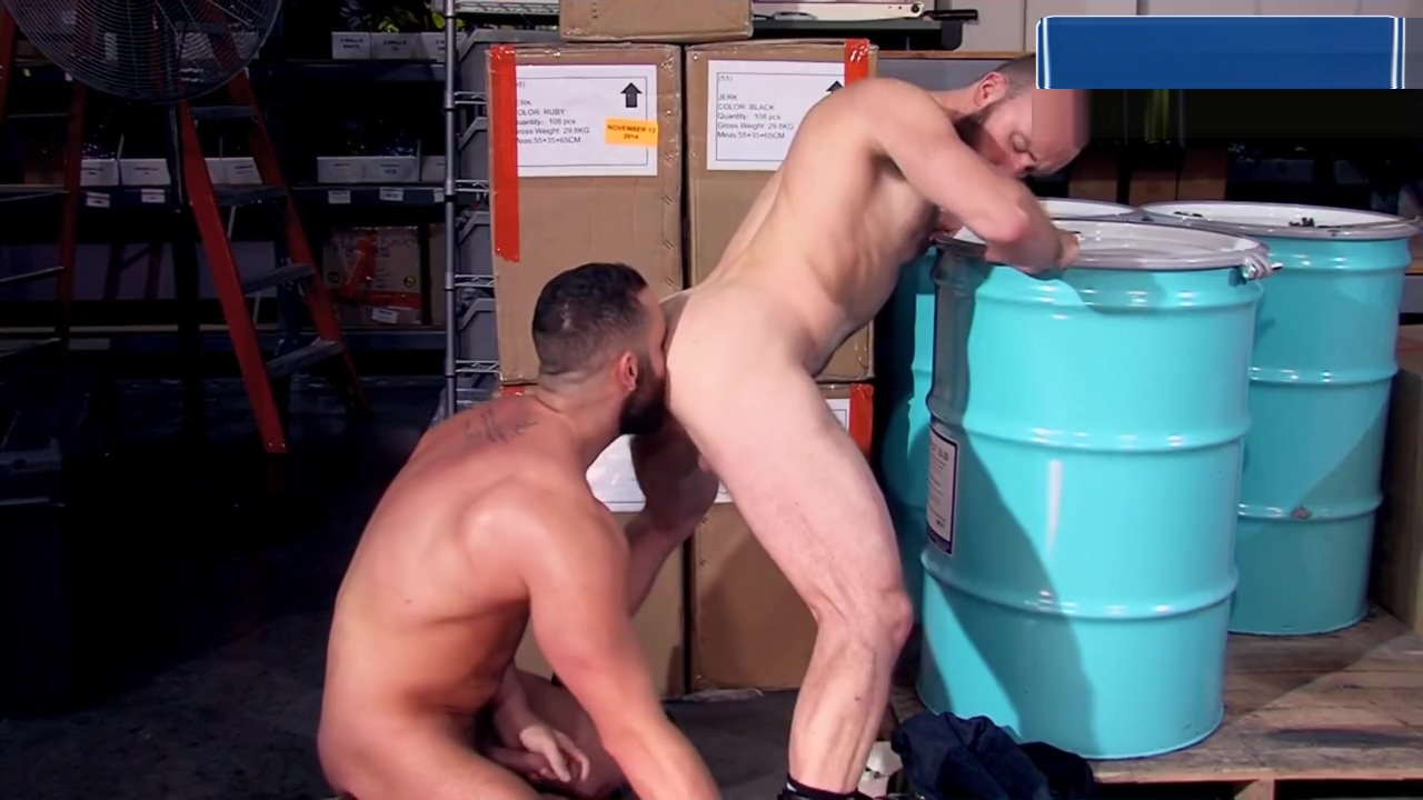Nick Prescott and Eddy CeeTee In Blue Collar Ballers office girls fucked on the desk