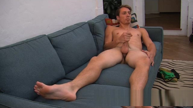 Straight guy strokes his pole Old cum in mouth