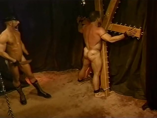 He ties his boyfriend up and whips him. interracial locker room threesome