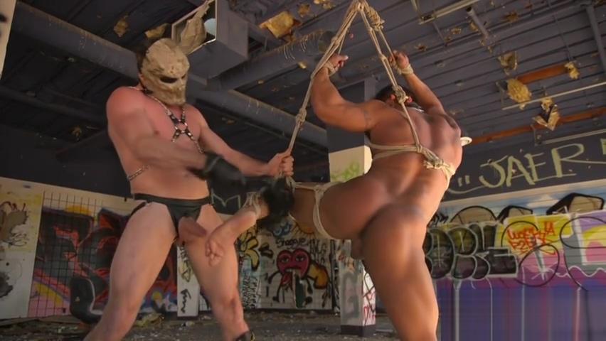 Bondage stud is spanked hard then fed cock Poison ivy justice league porn
