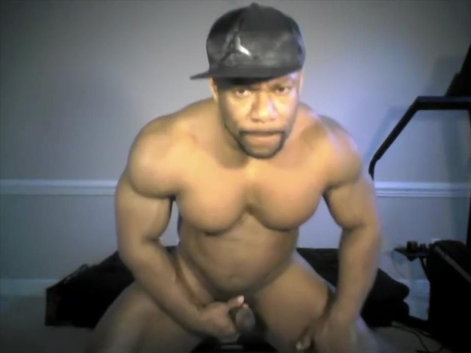 black muscle stud jerks off on cam Free gay hook up number