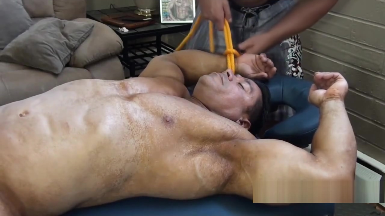 Beefy Bodybuilder Bound and Tickled - Zeus Diamonte How many times sex should done to get pregnant