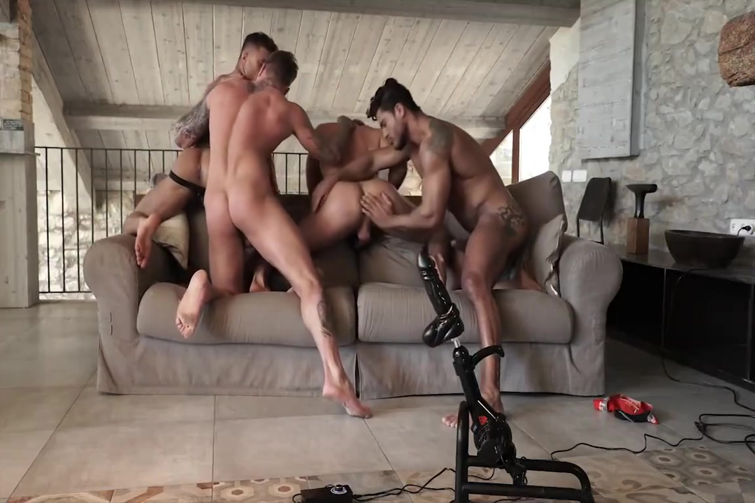 FOUR STUD ORGY anal sex rectum doesn